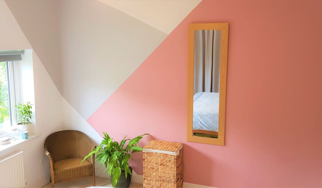 Multi-colour painted wall
