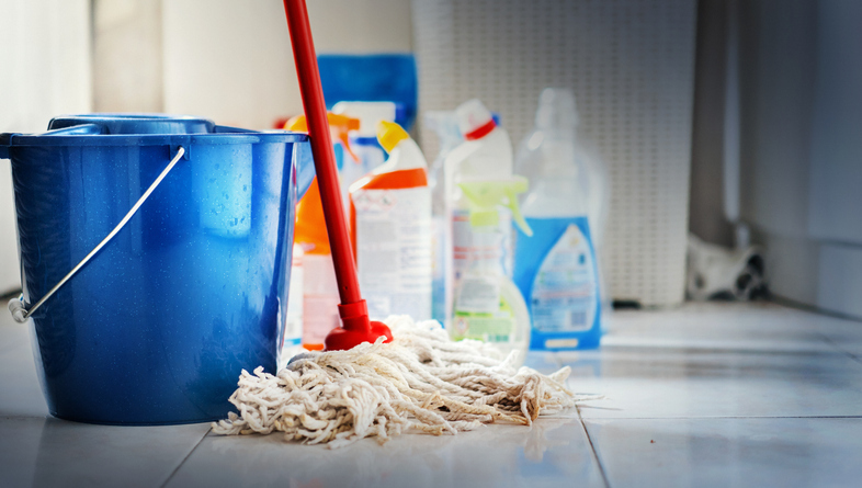 Supplies for deep-cleaning your house for sale