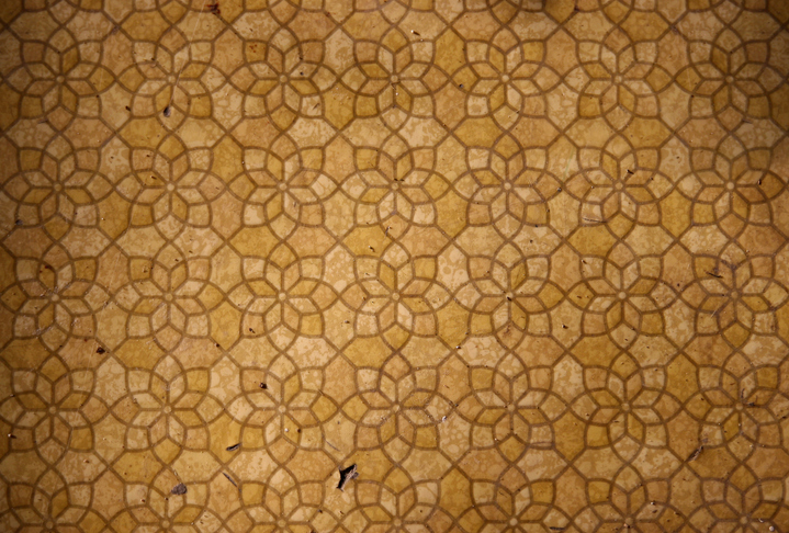 Dated and damaged kitchen flooring