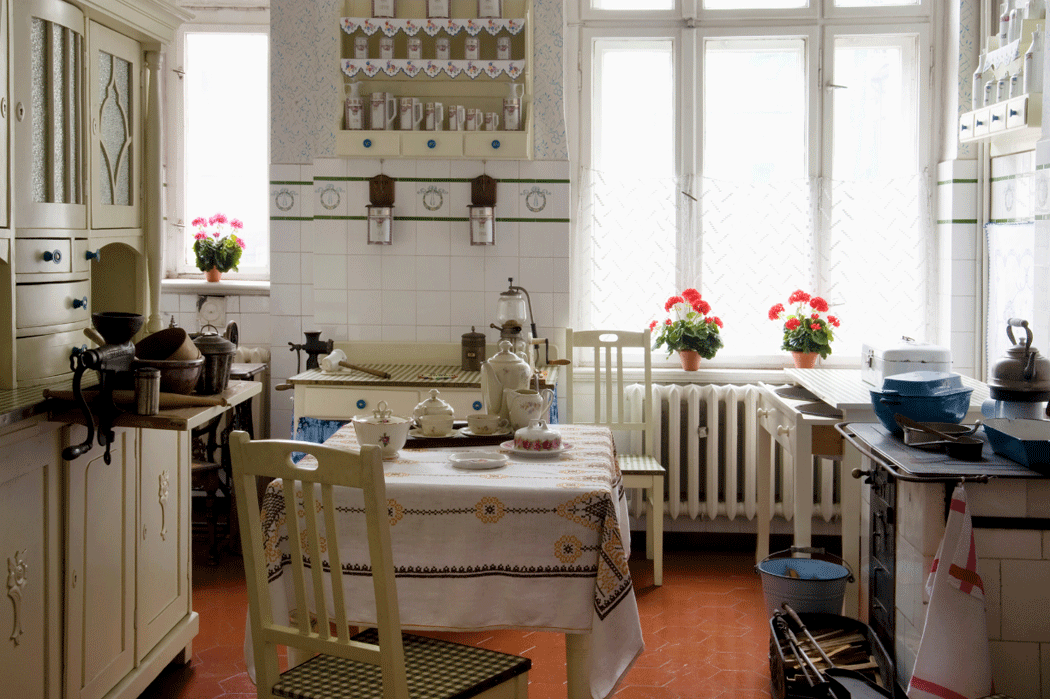 Example of a late-19th century kitchen