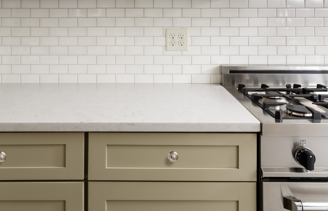 Neutral Kitchen Cabinets and Counter